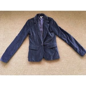 Dark Gray Velour Blazer